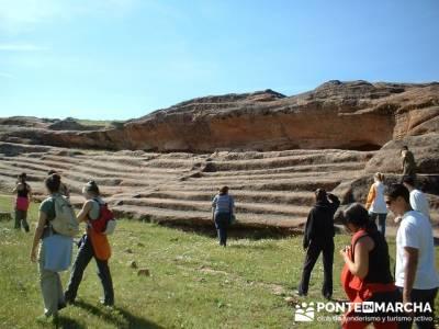 Yacimiento Arqueológico Celtibérico y Romano de Tiermes; senderismo la raña